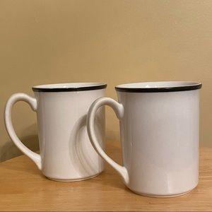 Corelle Corning Mugs with blue rim set of 2